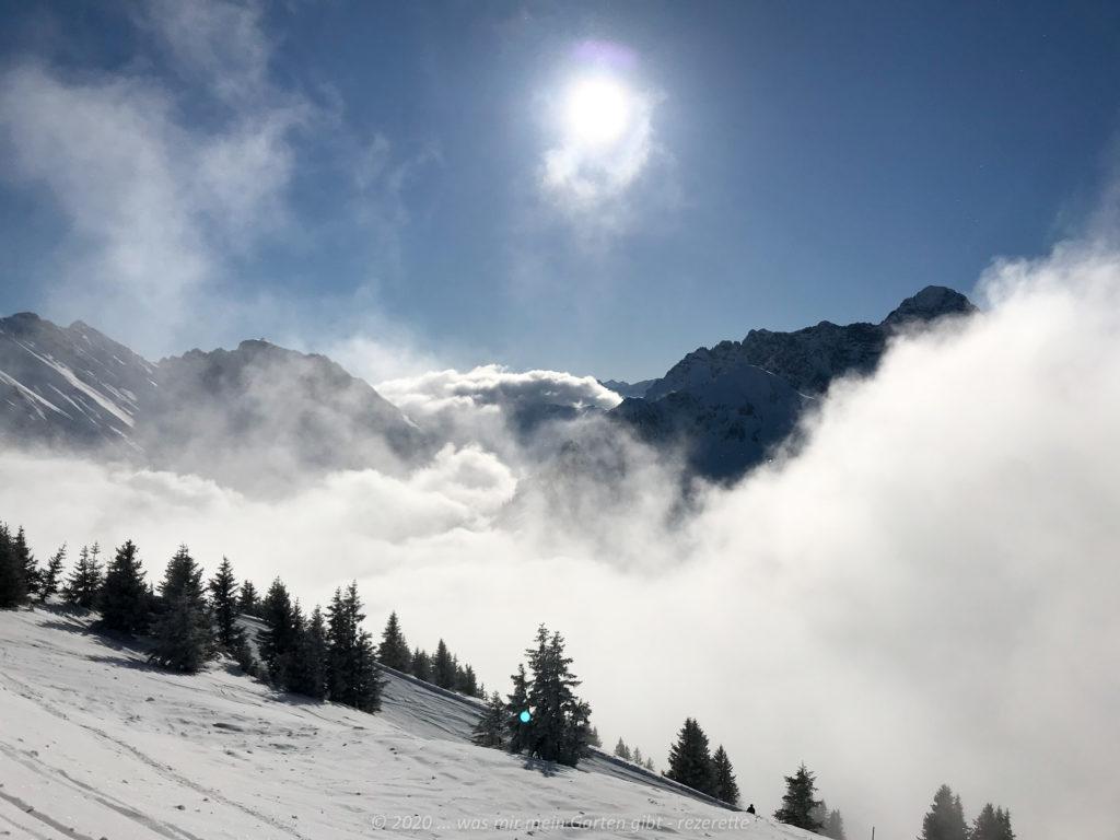 Winterlandschaft am Walmendinger Horn, Kleinwalsertal