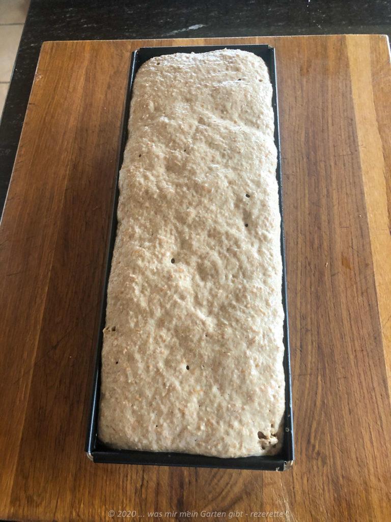 Brot nach dem 2, Gehen vor dem Backen